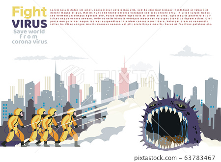 Vector illustration fight covid-19 corona virus. 63783467