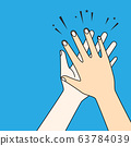 Human hands clapping. Applaud hands vector graphic 63784039