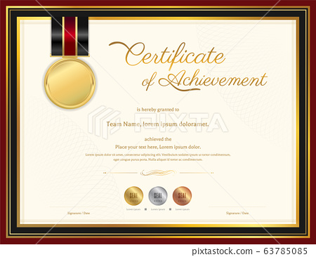Luxury certificate template with elegant border 63785085