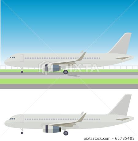 插圖素材飛機噴氣飛機飛機圖標矢量 63785485