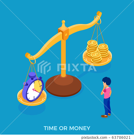 time or money man faced with choice 63786021