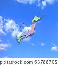 Japan map in blue sky 63788705