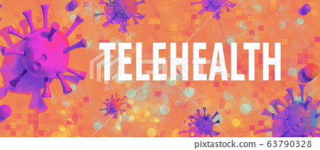 Telehealth theme with viral objects 63790328