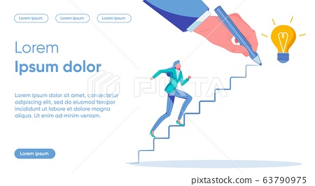 Goal Setting Flat Landing Page Vector Template 63790975