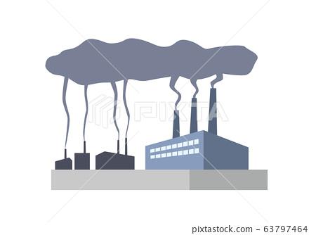 Factories, plants, smoke, pollution, pollutants, environmental pollution, environmental problems 63797464