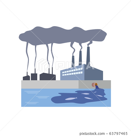 Factory, plant, smoke, pollution, marine pollution, pollutants, environmental pollution, environmental problems 63797465
