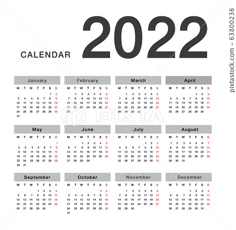 2022 2023 Calendar.Colorful Year 2022 Calendar Stock Illustration 63800236 Pixta