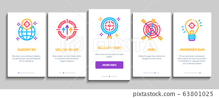 Goal Target Purpose Onboarding Elements Icons Set Vector 63801025