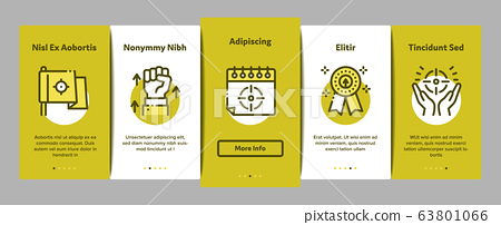 Goal Target Purpose Onboarding Elements Icons Set Vector 63801066