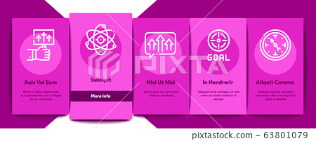 Goal Target Purpose Onboarding Elements Icons Set Vector 63801079