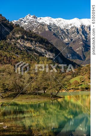 Lago di Tenno - Small Alpine lake in Trentino-Alto Adige Italy 63808945