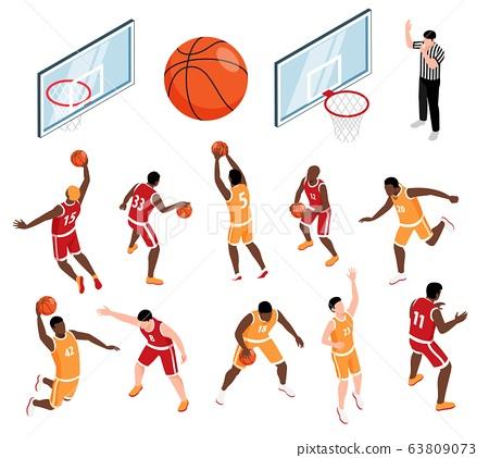 Basketball Isometric Set 63809073