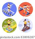 Jogging Running Isometric Concept  63809287