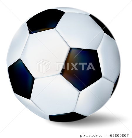 Soccer ball isolated on white background. 63809807