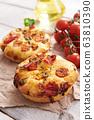 Traditional italian appetizer close up - Focaccia 63810390