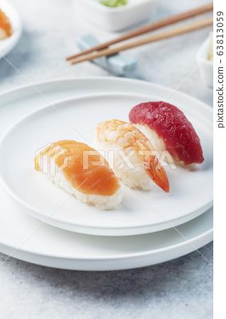 Mix of Traditional Japanese sushi 63813059