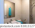 Minimalist bathroom in a modern house 63813127