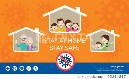 stay at home stay safe for family 63814817