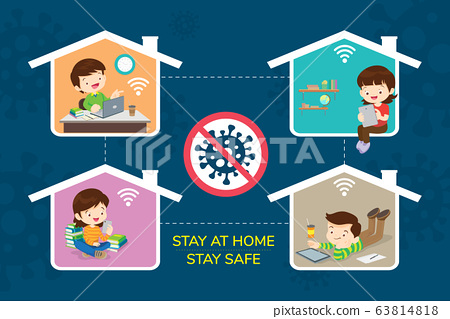 stay at home stay safe for family 63814818