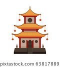 Traditional Chinese Building, Oriental Cultural Architecture Object Vector Illustration 63817889