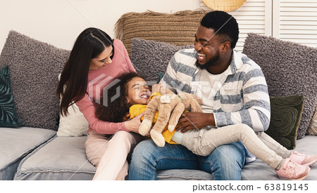 African american father and european mother with daughter 63819145