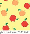 Hand-drawn apples seamless pattern 63821911