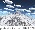 Mountain panorama with clouds 63824270