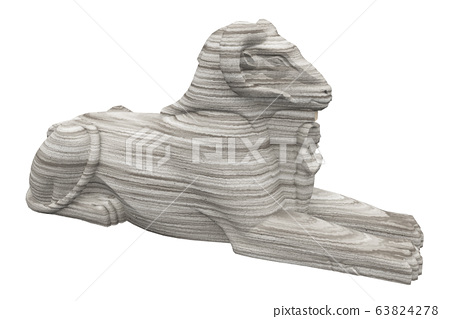 Aries sphinx isolated on white background 63824278