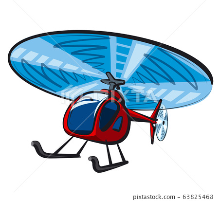 red small helicopter 63825468