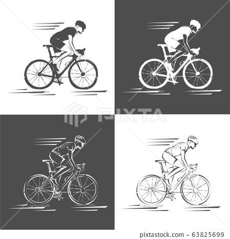 Bicycle. Bike icon vector. Cycling concept. Sign for bicycles path Isolated on white background. 63825699