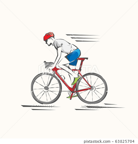 Bicycle. Bike icon vector. Cycling concept. Sign for bicycles path Isolated on white background. 63825704