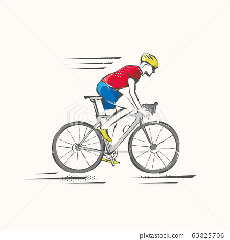 Bicycle. Bike icon vector. Cycling concept. Sign for bicycles path Isolated on white background. 63825706