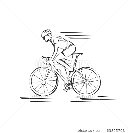 Bicycle. Bike icon vector. Cycling concept. Sign for bicycles path Isolated on white background. 63825708