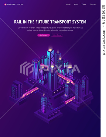 Rail train in future city transport system 63826089