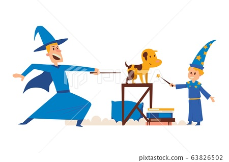 Wizard Male Character Magical Student Kid With Stock Illustration 63826502 Pixta Find the perfect wizard illustration image. pixta