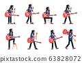 Singer with acoustic guitar poses 63828072
