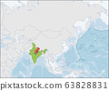 Republic of India location on Asia map 63828831