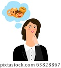 Woman thinking about bakery products 63828867
