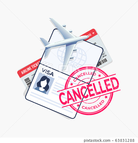 The flight is cancelled with the passport and travel ticket. 63831288