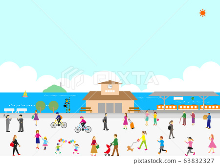 역 인물 항구 도시 63832327
