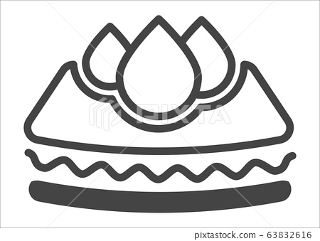 Absorbing cloth or material for baby diapers vector 63832616