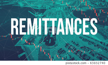 Remittances theme with US shipping port 63832740
