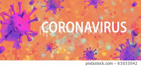 Coronavirus theme with viral objects 63833042