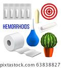 Hemorrhoids Medical Problem Collection Set Vector 63838827