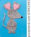 Children felt craft of mouse view 63842993