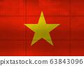 Flag of Vietnam on metal 63843096