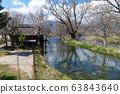 長野縣安zu野市Daio Wasabi農場的水車 63843640