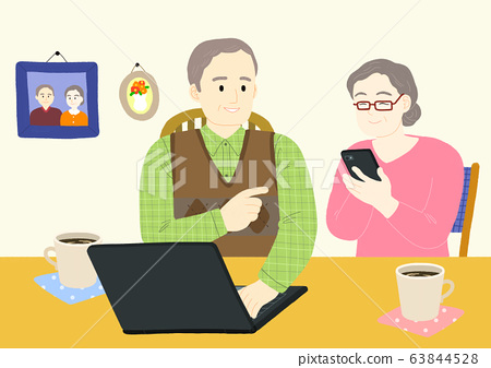 OPAL Generation, Old People with Active Life concept illustration 005 63844528