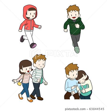 Cartoon character different emotions set illustration 005 63844545