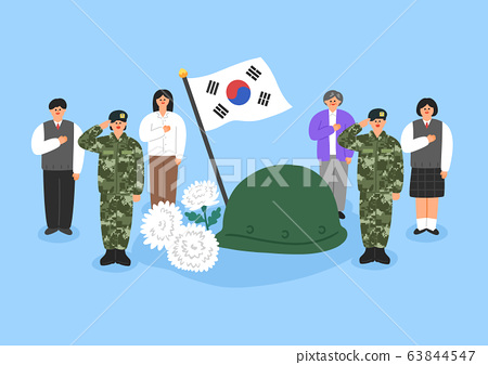 Various Korean anniversaries illustration. to celebrate and memorial a special day in Korea. 007 63844547